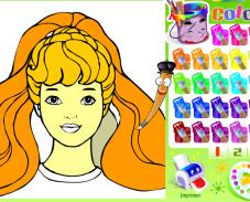 Игра Барби раскраска онлайн