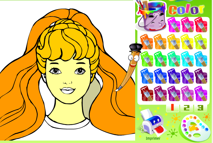 Игра Барби раскраска - играй онлайн