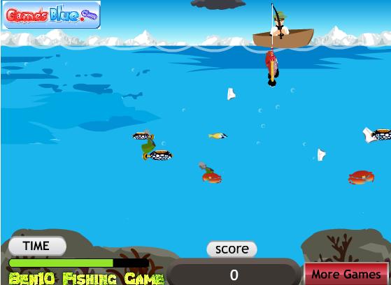 Игра Бен 10 рыбалка онлайн