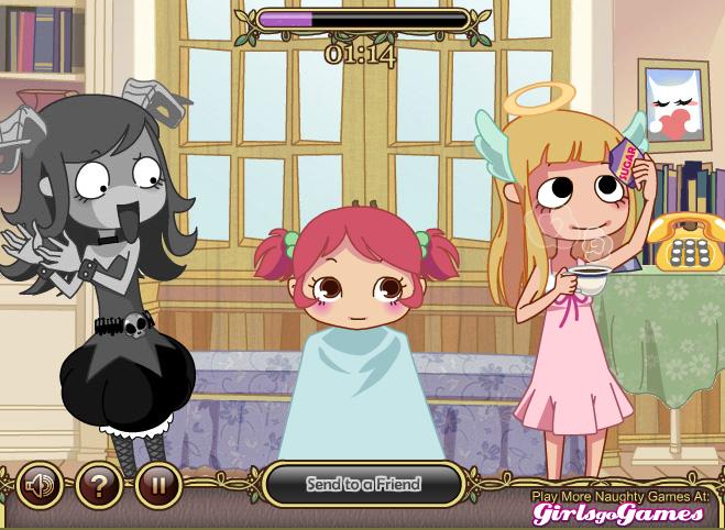 Игра Дьявольский парикмахер онлайн