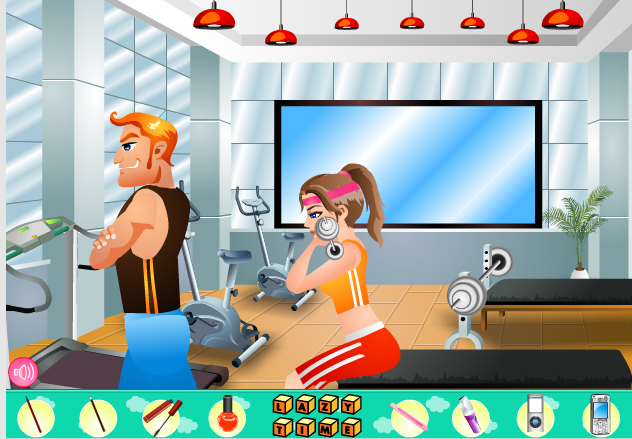 Игра Ленивая в фитнес клубе онлайн