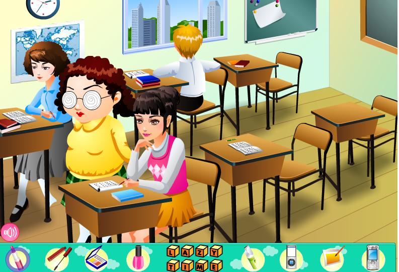Игра Ленивая в школе онлайн