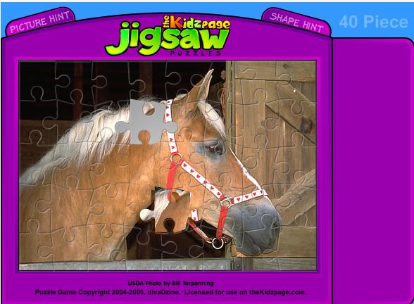 Игра Лошадь пазл онлайн