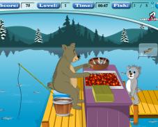 Игра Медведь рыбак онлайн