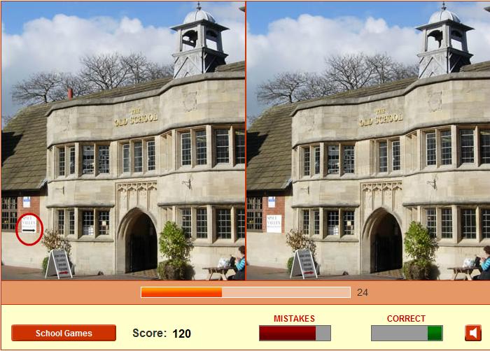Игра Найди отличия школа онлайн