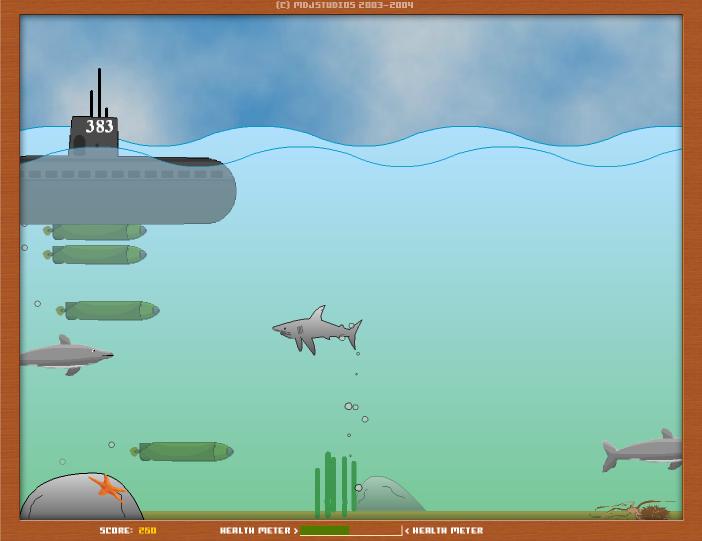 Игра Нападение акул онлайн
