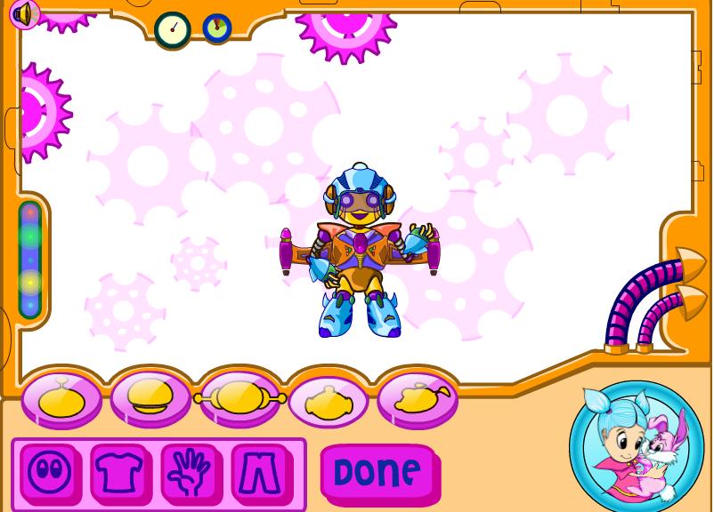 Игра Одевалка робот онлайн