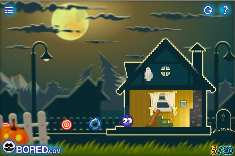 Игра Поймать конфету Хэллоуин онлайн