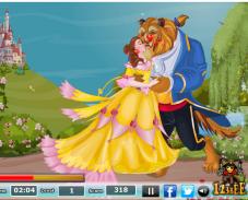 Игра Поцелуи красавицы и чудовища онлайн