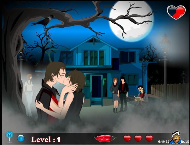 Игра Поцелуи на Хэллоуин онлайн