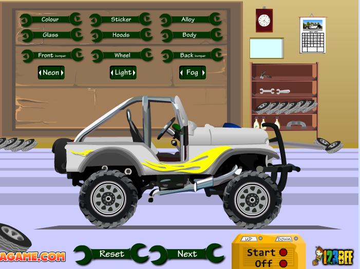 Игра Прокачай свой джип онлайн