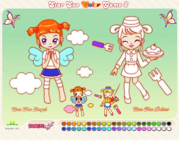 Игра Раскраска ангел - играй онлайн