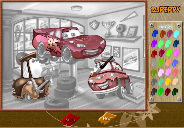 Игра Раскраска маквин онлайн