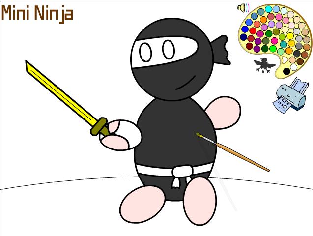 Игра Раскраска ниндзя онлайн