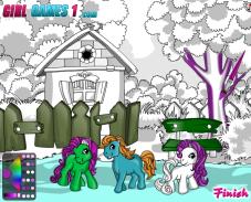 Игра Раскраска пони онлайн