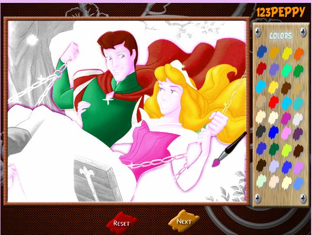 игра раскраска принцесса играй онлайн