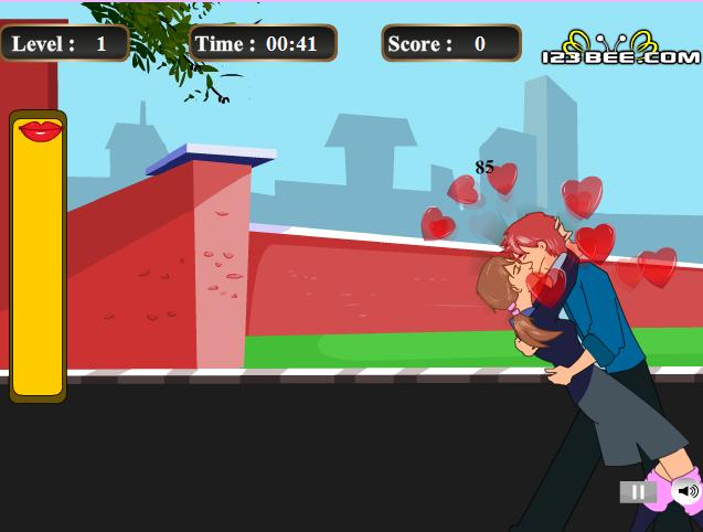 Игра Романтический поцелуй онлайн
