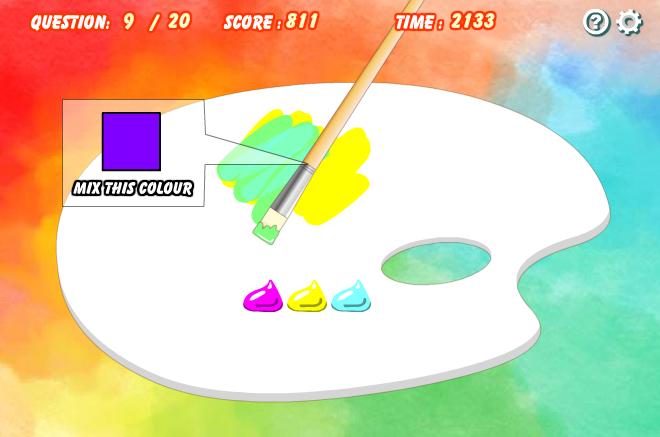 Игра Смешай цвета онлайн