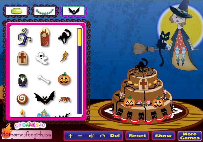 Игра Торт на хэллоуин онлайн