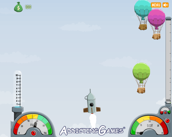 Игра Лечу на луну онлайн