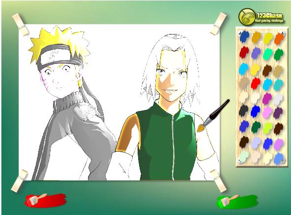 Игра Раскраска наруто - играй онлайн