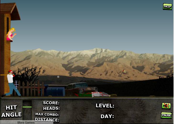 Игра Бейсбол зомби онлайн