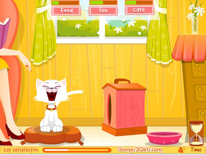 Игра Виртуальный котенок онлайн