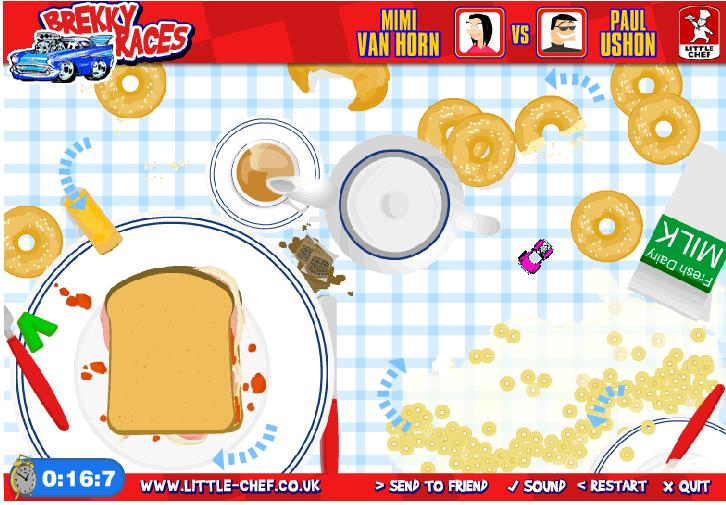 Игра Гонки на тарелке онлайн