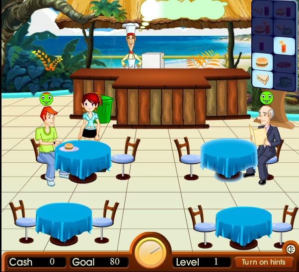 Игра Кафе на пляже онлайн