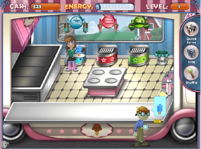Игра Магазин мороженого онлайн