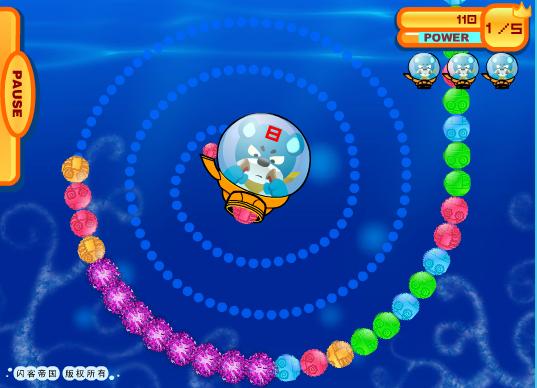 Игра Морские шарики онлайн