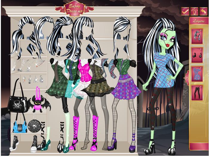 Игра Одевалка монстр хай онлайн