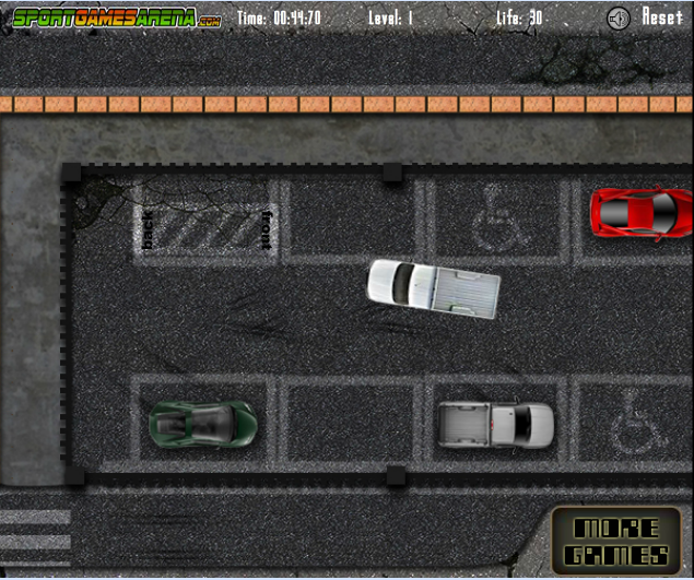 Игра Парковка пикапа онлайн