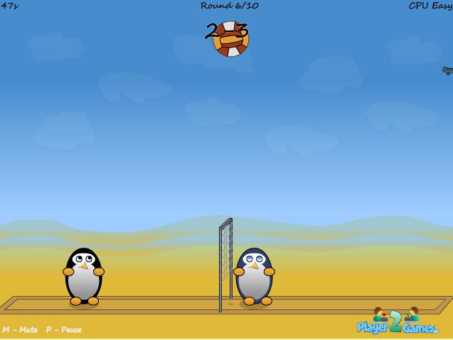 Игра Пингвины волейбол онлайн
