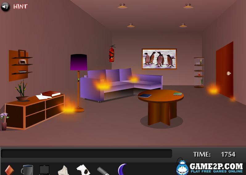 Игра Пожар в доме онлайн