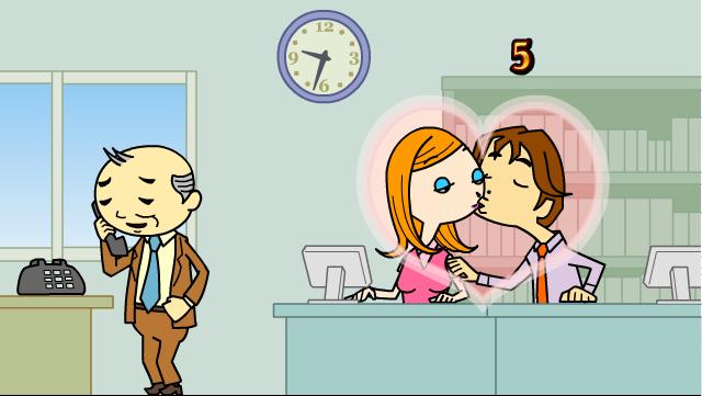 Игра Поцелуи на работе онлайн