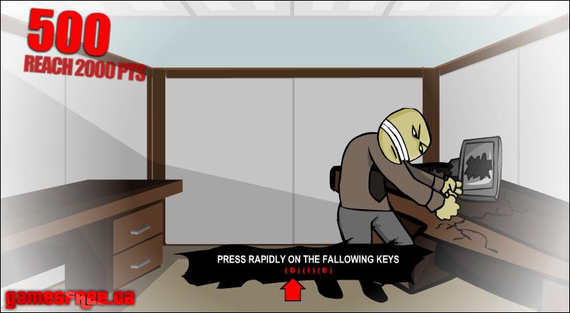Игра Псих в офисе онлайн