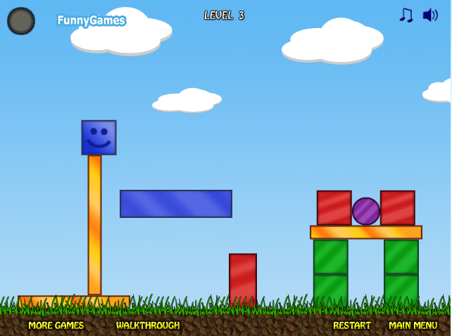 Игра Синий кубик онлайн