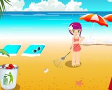 Игра Уборка на пляже онлайн