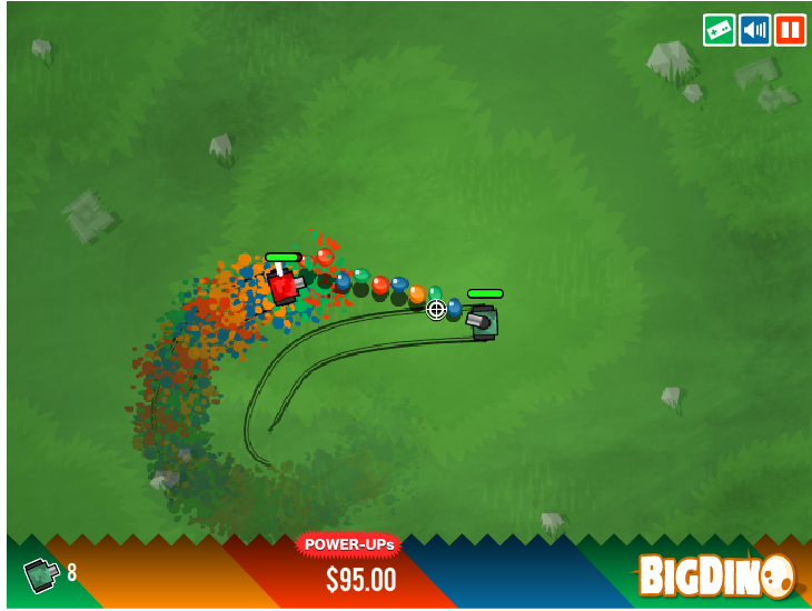 Игра Цветные танки онлайн