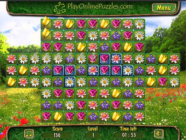 Игра Цветочный Пазл онлайн