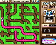 Игра Щенок в лабиринте онлайн
