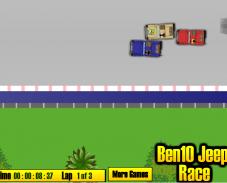 Игра Бен 10 на джипе онлайн