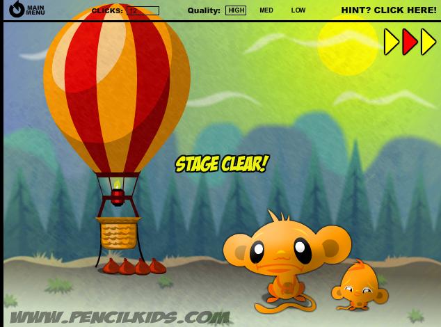 Игра Забавная обезьянка 2 - играй онлайн