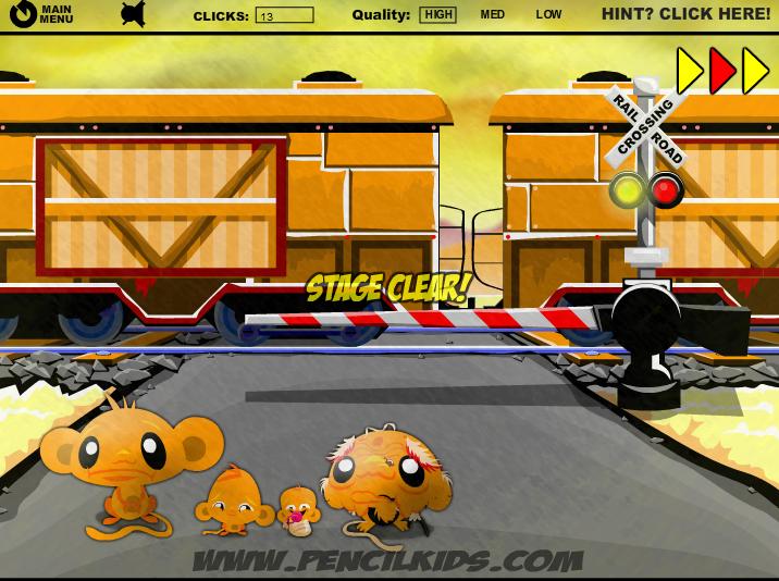 Игра Забавная обезьянка 4 онлайн