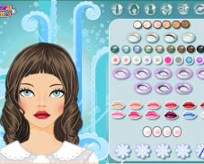 Игра Зимний макияж онлайн