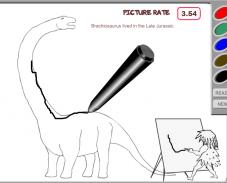 Игра Нарисуй динозавра онлайн