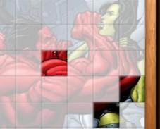 Игра Пазл красный Халк онлайн
