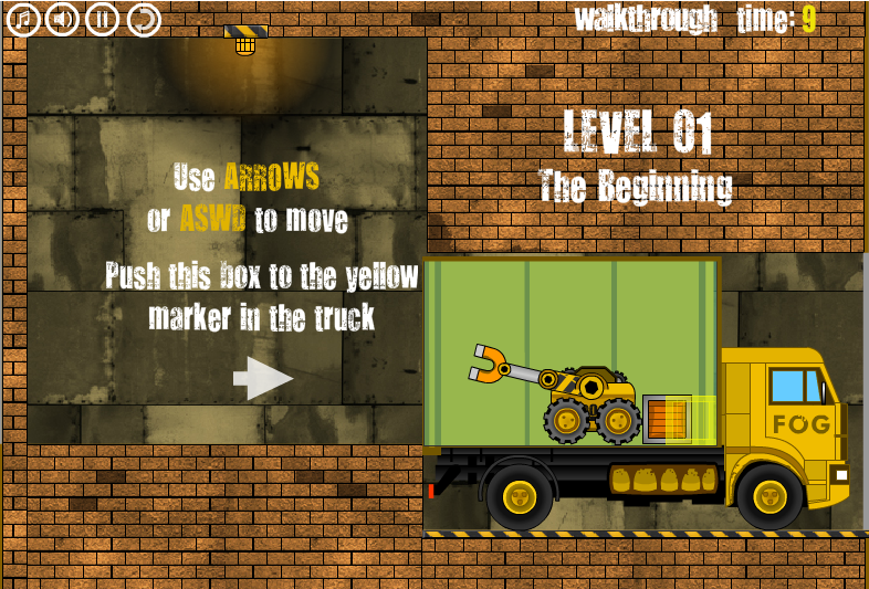Игра Погрузчик грузовика онлайн