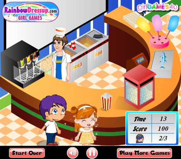 Игра Продавец попкорна онлайн